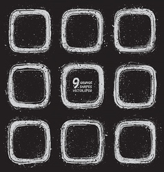 Grunge textured shapes vector image vector image