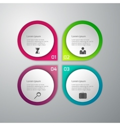 infographics 4 options vector image