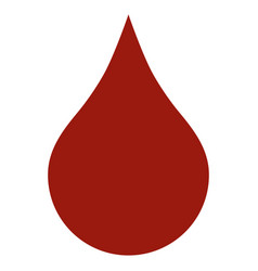 red blood drop flat icon vector image