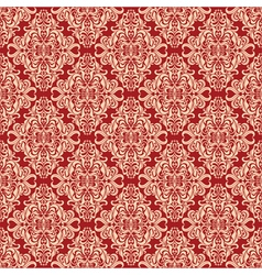 seamless vintage floral pattern red vector image vector image