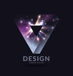 the impossible shape 3d object and type of vector image