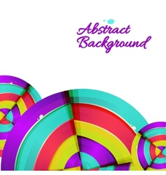 Abstract colorful rainbow curve background design vector image vector image