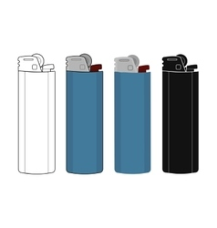 Disposable pocket gas lighters icons set vector image vector image