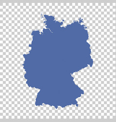 germany map on isolated background flat vector image vector image
