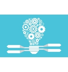 Light bulb and gears vector image
