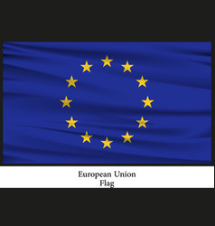 national flag brochure of european nation vector image vector image
