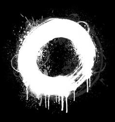 White grunge ring vector