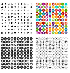 100 drawing icons set variant vector