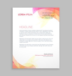 abstract soft color shapes letterhead template vector image