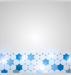 abstract technology hexagon background vector image
