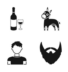 Alcohol animal and or web icon in black style vector