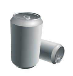 Aluminum drink cans vector