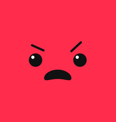 Angry emoji vector
