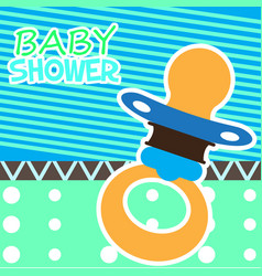 baby shower card with a pacifier vector image