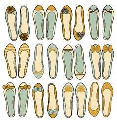 Ballerina shoes collection vector