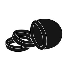 Black oliveolives single icon in black style vector