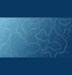 Blue background with map contour topographic vector