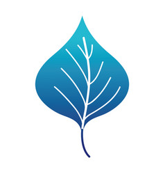 blue silhouette plant leaf design to natural icon vector image