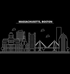 Boston silhouette skyline usa - boston vector