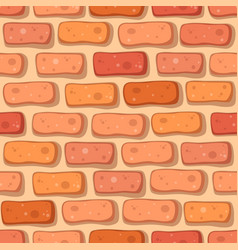 cartoon red brick seamless pattern vector image