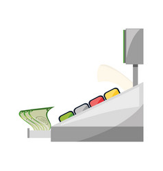 cash register machine vector image