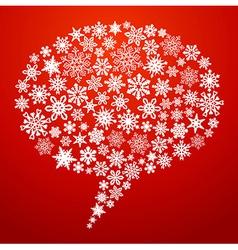 Christmas social media speech bubble vector image