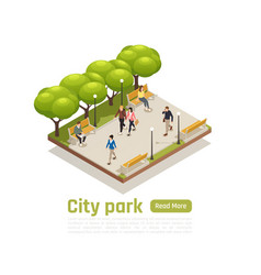 city isometric concept vector image