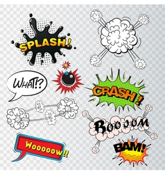 comic speech bubbles sound effects cloud explosio vector image