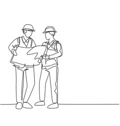 Construction business planning concept one vector