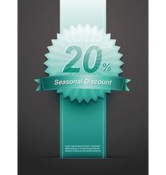 discount label vector image