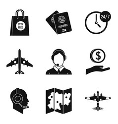dispatcher icons set simple style vector image