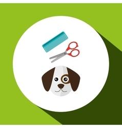 Dog pet cartoon Animal design vector