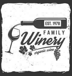 family winery badge sign or label vector image