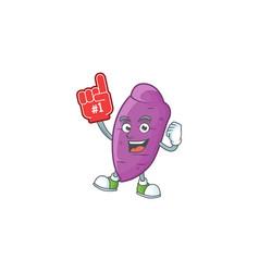Funny okinawa yaw mascot cartoon style with foam vector