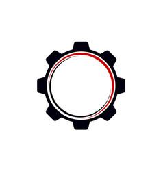 gear template logo vector image