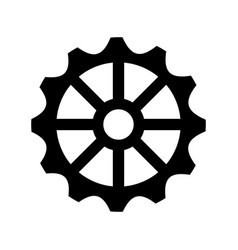 Gears machine isolated icon vector