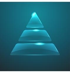glass pyramid icon Eps10 vector image vector image