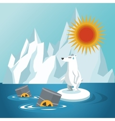 Global warming and environment design vector