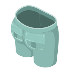 gray green jeans icon isometric 3d style vector image