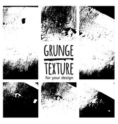 Grunge black textures on white background vector