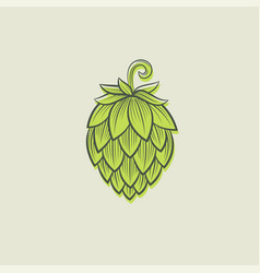 hope hop cone drawing vector image