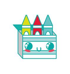 Isolated crayon box design vector