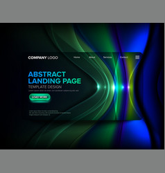 Landing page template design vector