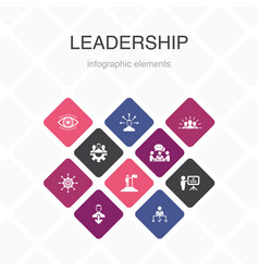 Leadership infographic 10 option color design vector