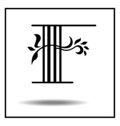 Letter F - Script vector