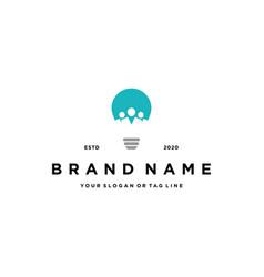 Light bulbs and people logo design vector