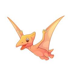 Little pterodactyl cartoon vector