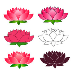 lotus flower icon isolated on white background vector image