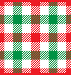 lumberjack plaid pattern in red white and green vector image