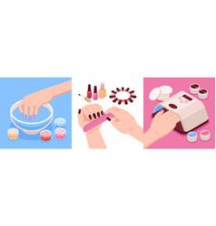 Manicure isometric design concept vector